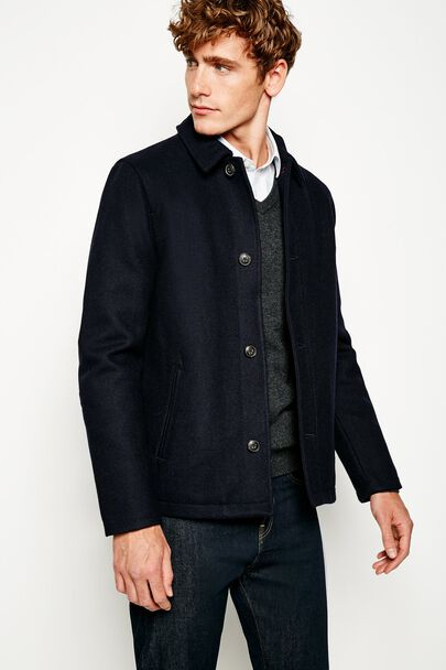 ASHBEE SINGLE BREASTED WOOL CAR JACKET