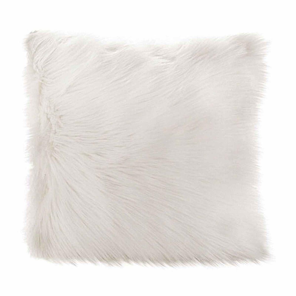 kissen felloptik offweiss ca l 45 x b 45 cm kissenbezug 100 polyester depot de. Black Bedroom Furniture Sets. Home Design Ideas