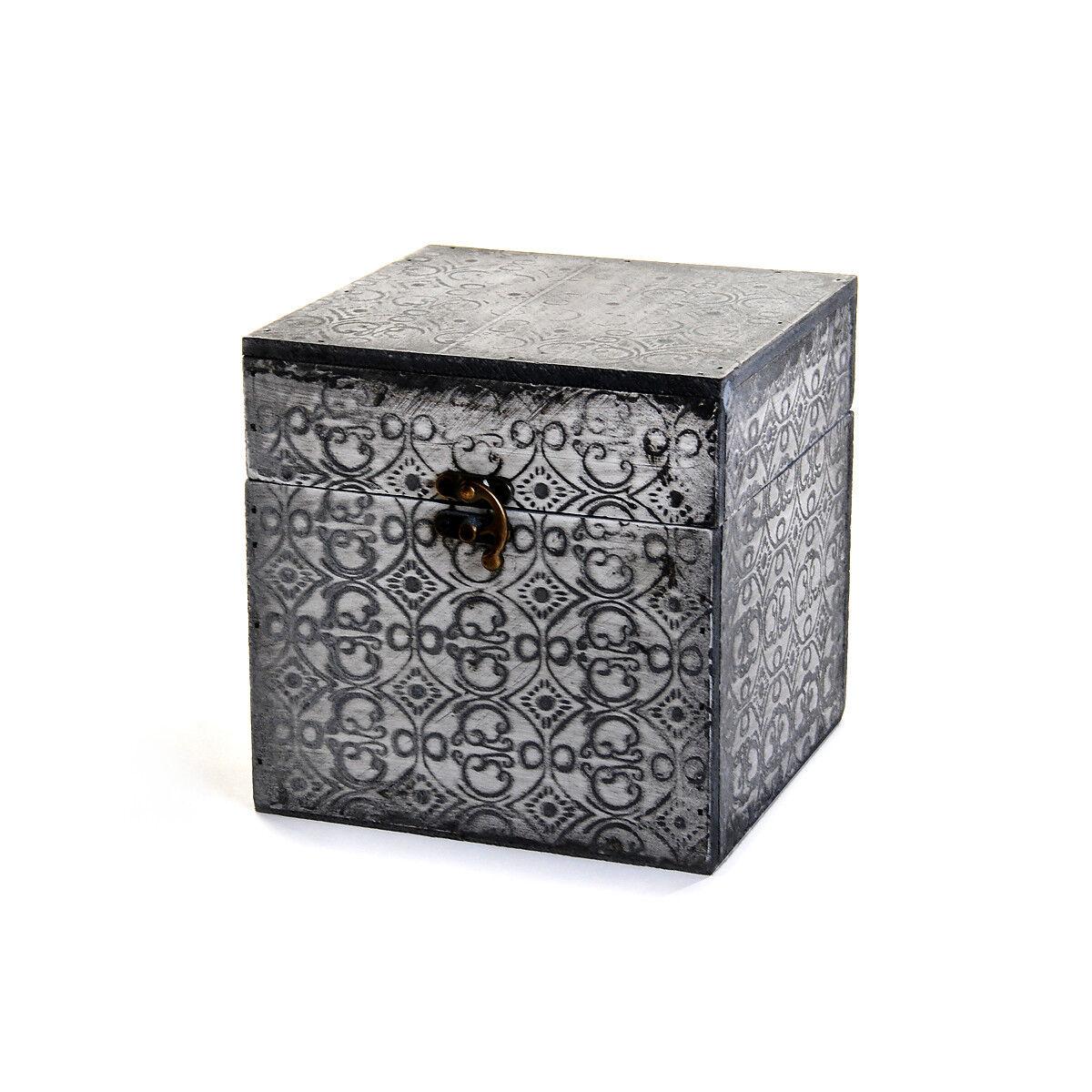 aufbewahrungsbox holz grau ca17 x 17 x 17 cm depot de. Black Bedroom Furniture Sets. Home Design Ideas