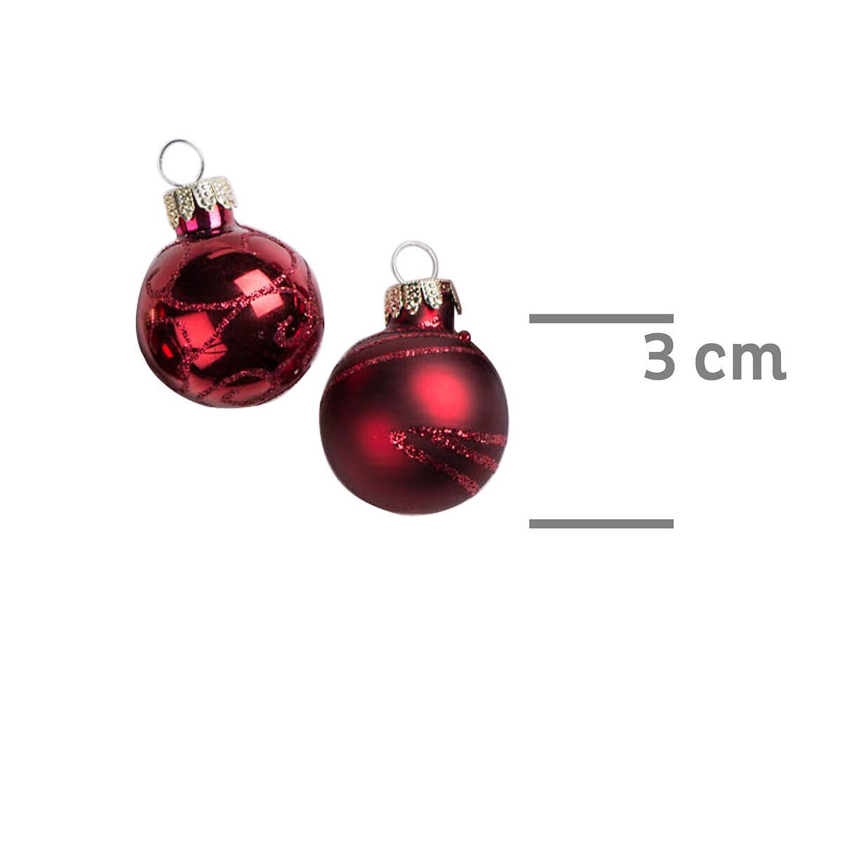 weihnachtskugeln glas bemalt 6 fach sortiert rot ca d 3 cm depot de. Black Bedroom Furniture Sets. Home Design Ideas