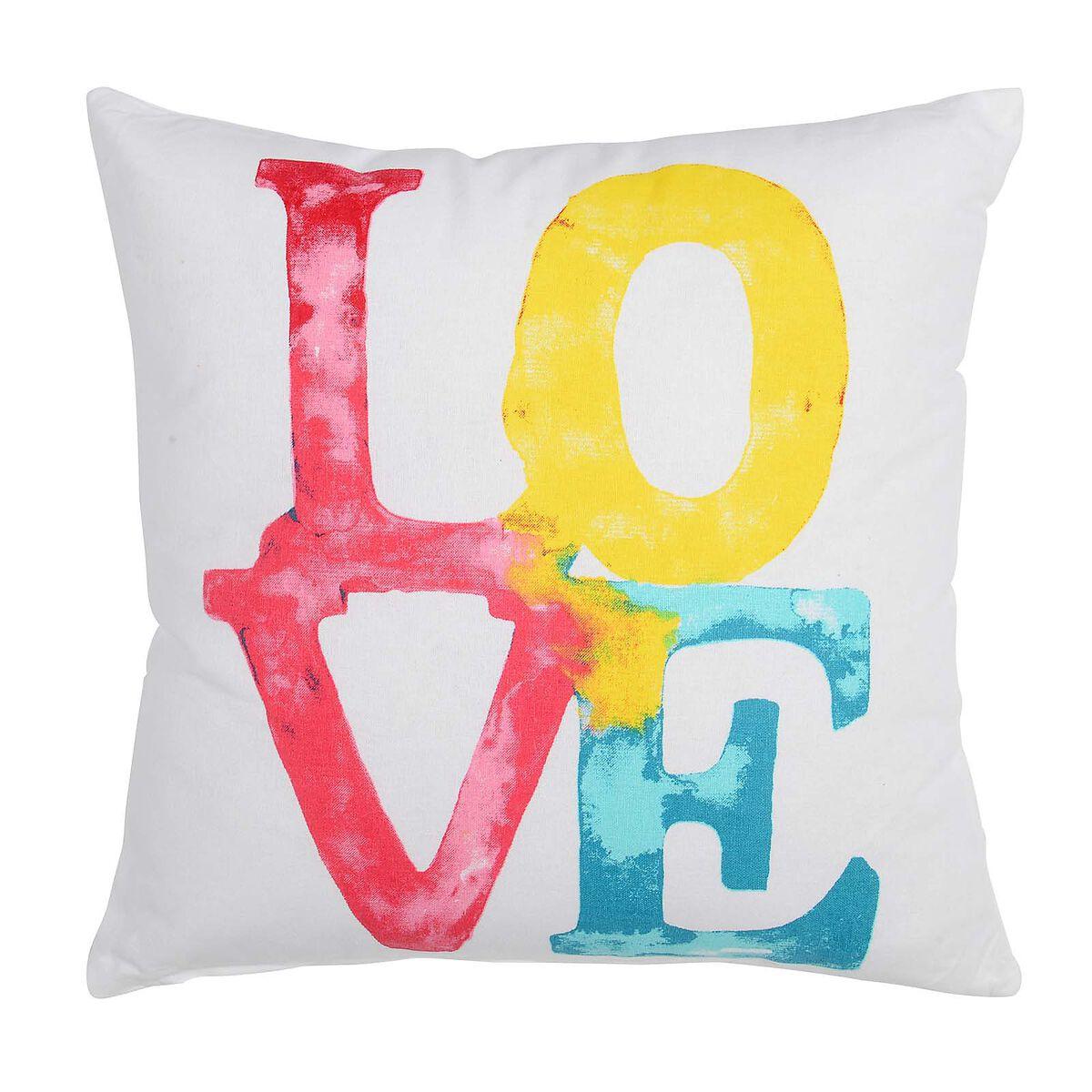 kissen love bunt ca b 45 x l 45 cm depot de. Black Bedroom Furniture Sets. Home Design Ideas