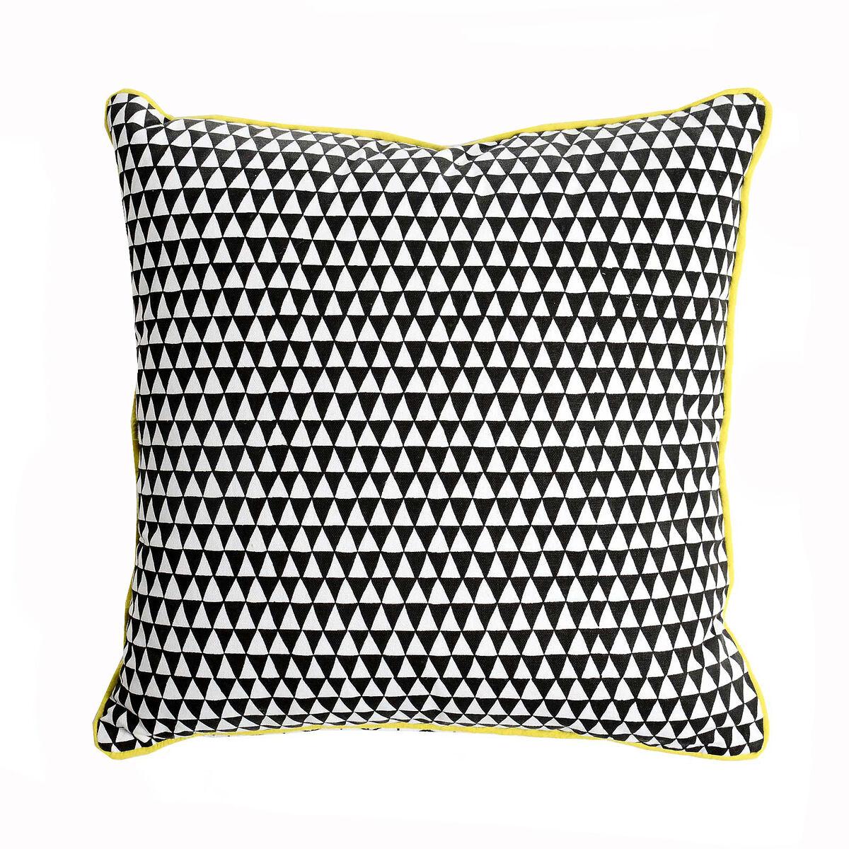 kissen raute schwarz ca b 45 x l 45 cm depot de. Black Bedroom Furniture Sets. Home Design Ideas