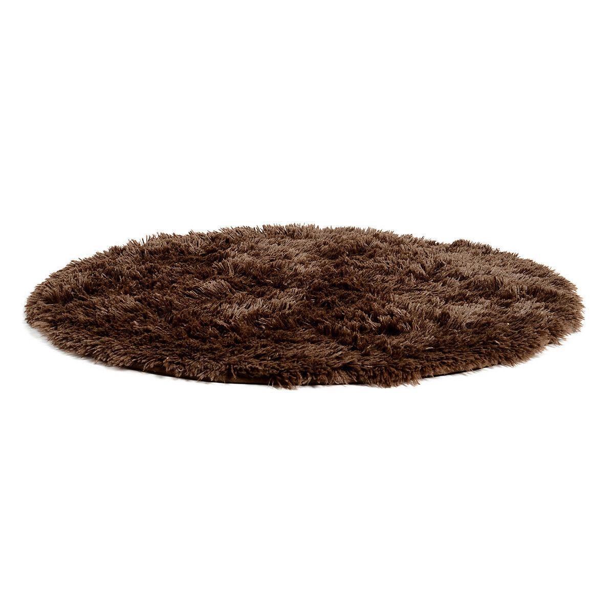 Teppich rund ca D88cm, braun  Depot DE