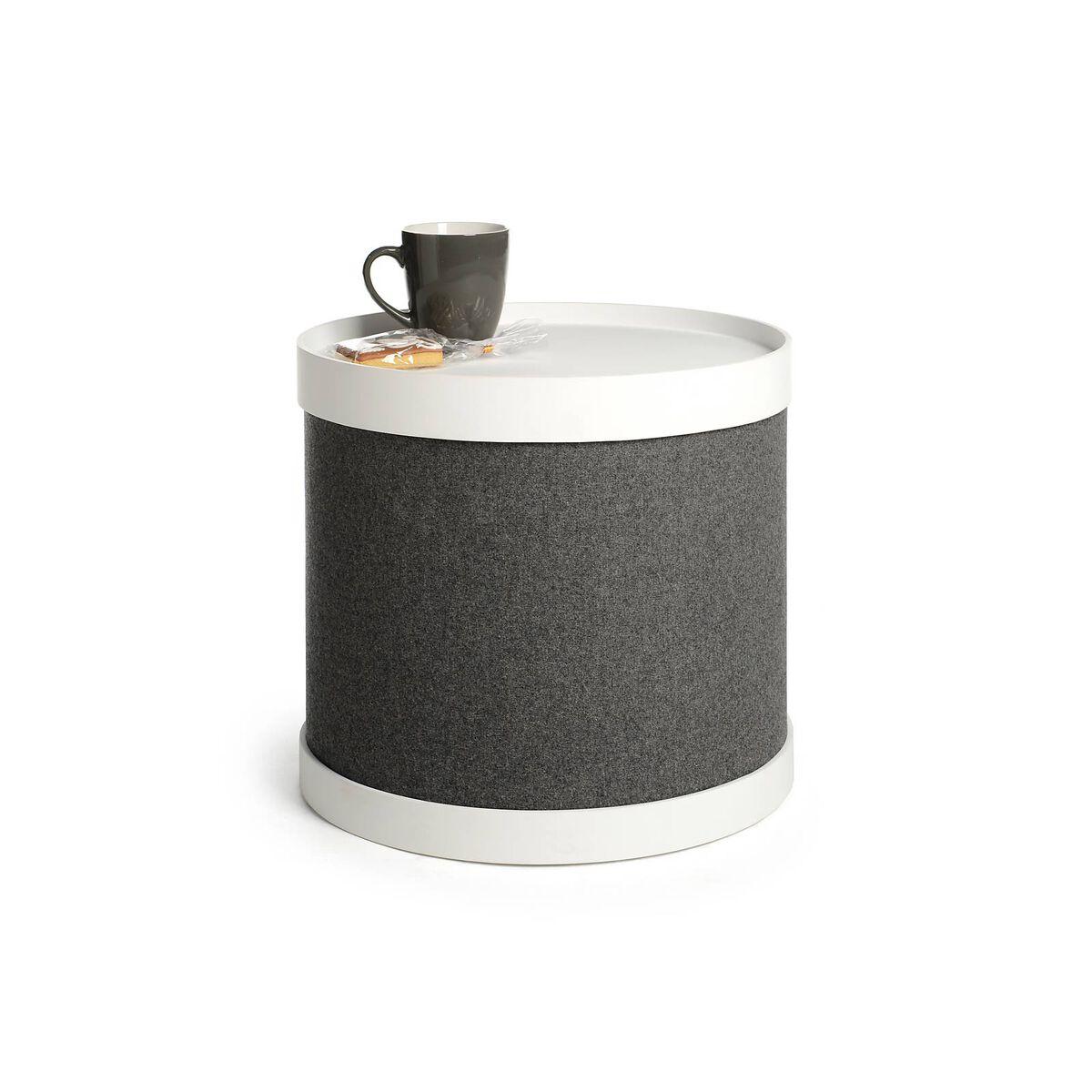 beistelltisch mit abnehmbarem tablett ca d 42 x h 37cm. Black Bedroom Furniture Sets. Home Design Ideas