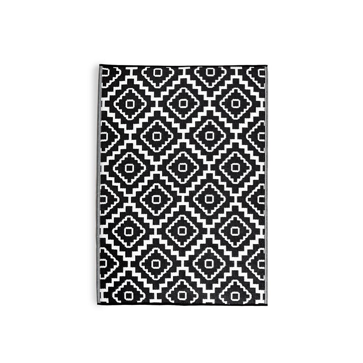 Teppich Outdoor Marokko schwarz ca L90 x B150 cm  Depot DE