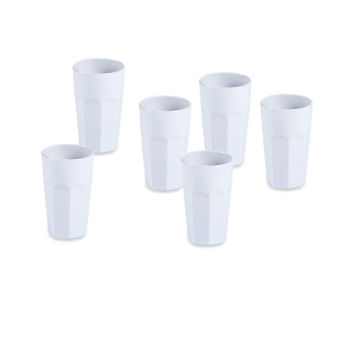 Latte Macchiato Becher 6 Stück Porzellan Weiß Ca 360 Ml