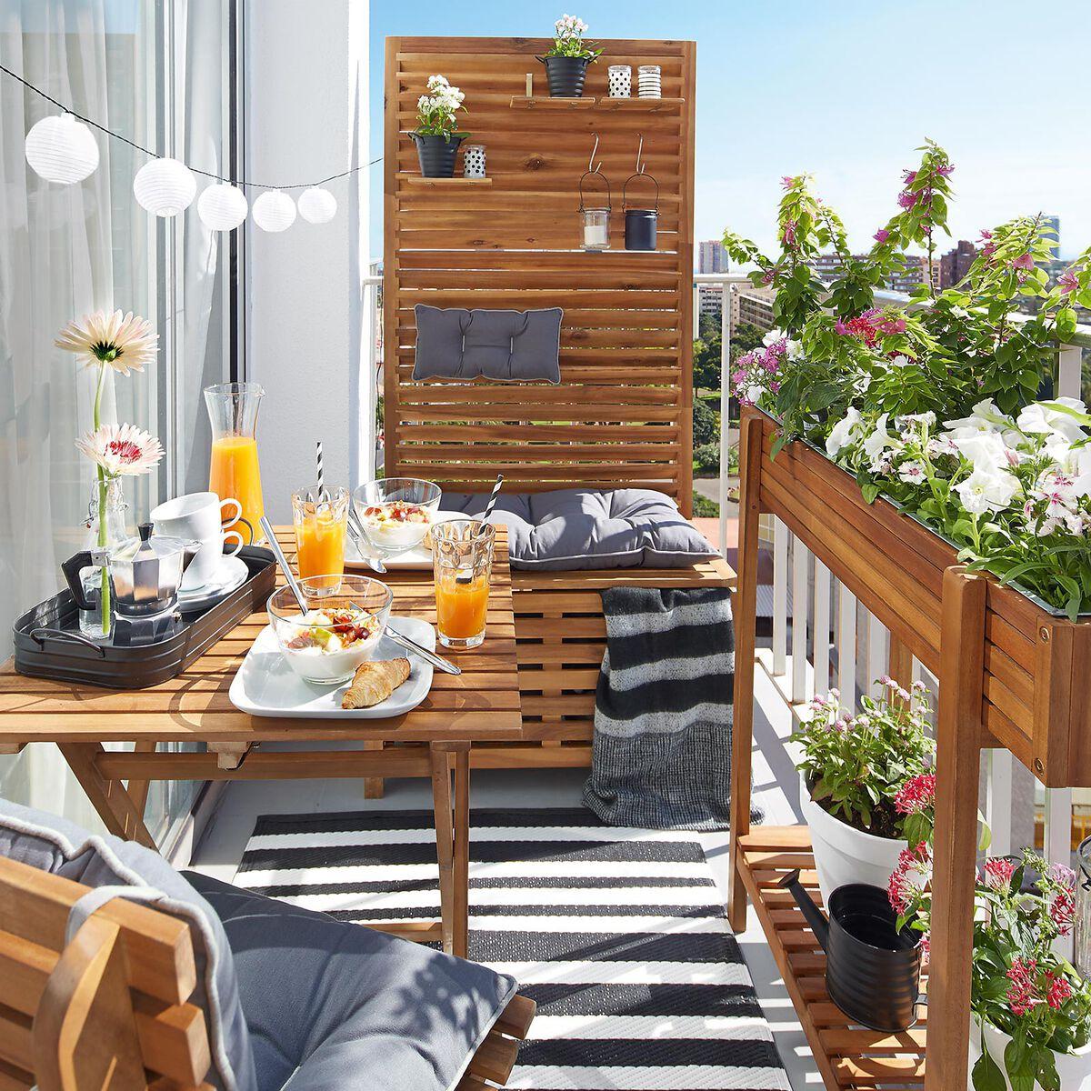 Teak Gartenmobel Vorarlberg : Sichtschutz Bank Akazienholz 100% FSC®zertifiziert natur ca L80 x B