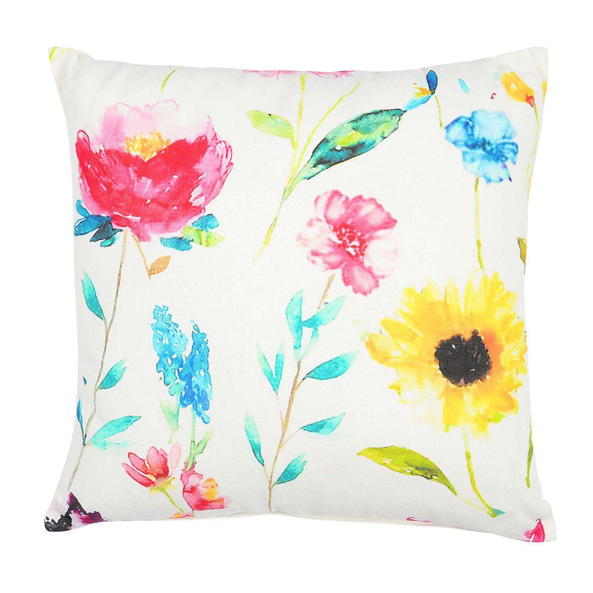 kissen flowers bunt ca b 45 x l 45 cm kissenbezug 100. Black Bedroom Furniture Sets. Home Design Ideas