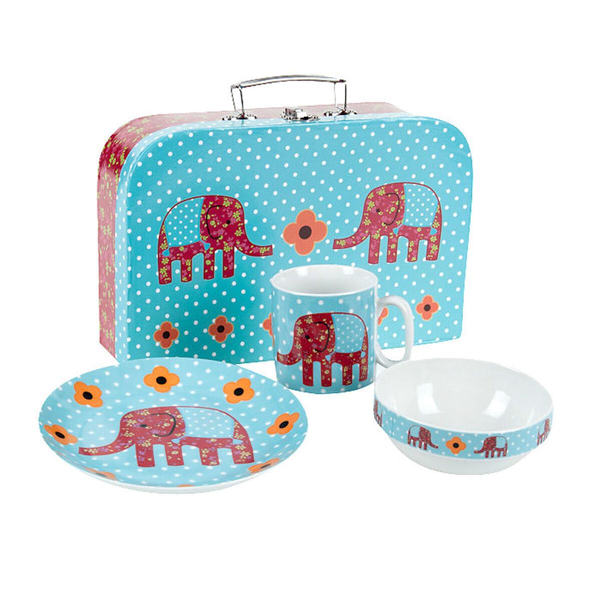kindergeschirr elefant 3tlg porzellan depot de. Black Bedroom Furniture Sets. Home Design Ideas