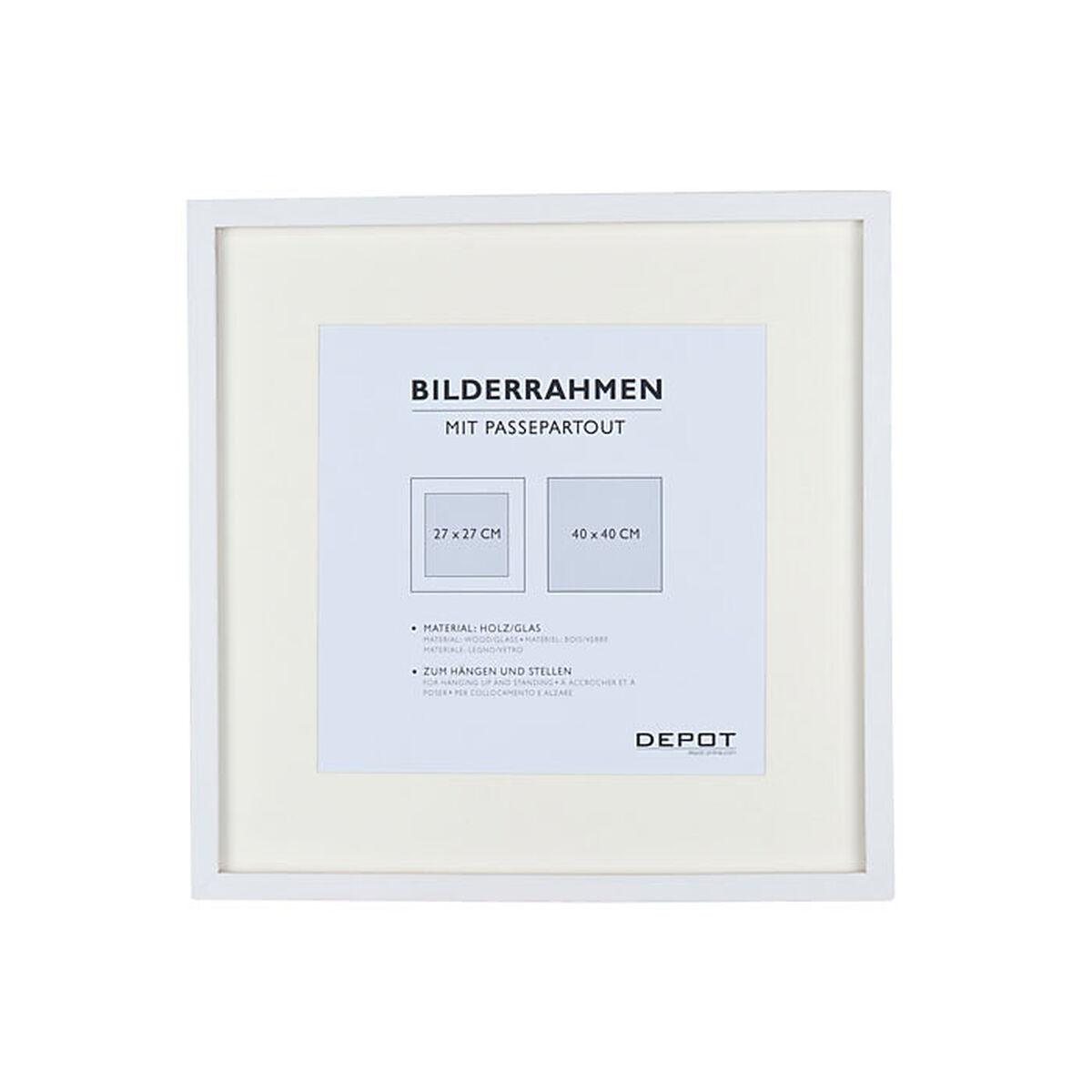bilderrahmen holz wei ca b 40 x l 40 cm depot de. Black Bedroom Furniture Sets. Home Design Ideas