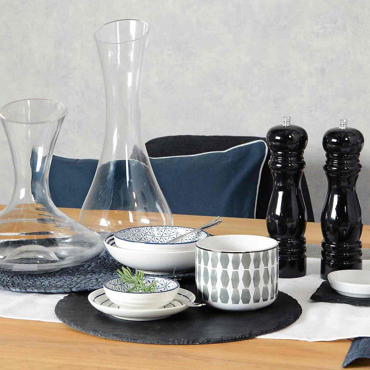 schieferplatte rund ca d 30cm schwarz depot de. Black Bedroom Furniture Sets. Home Design Ideas