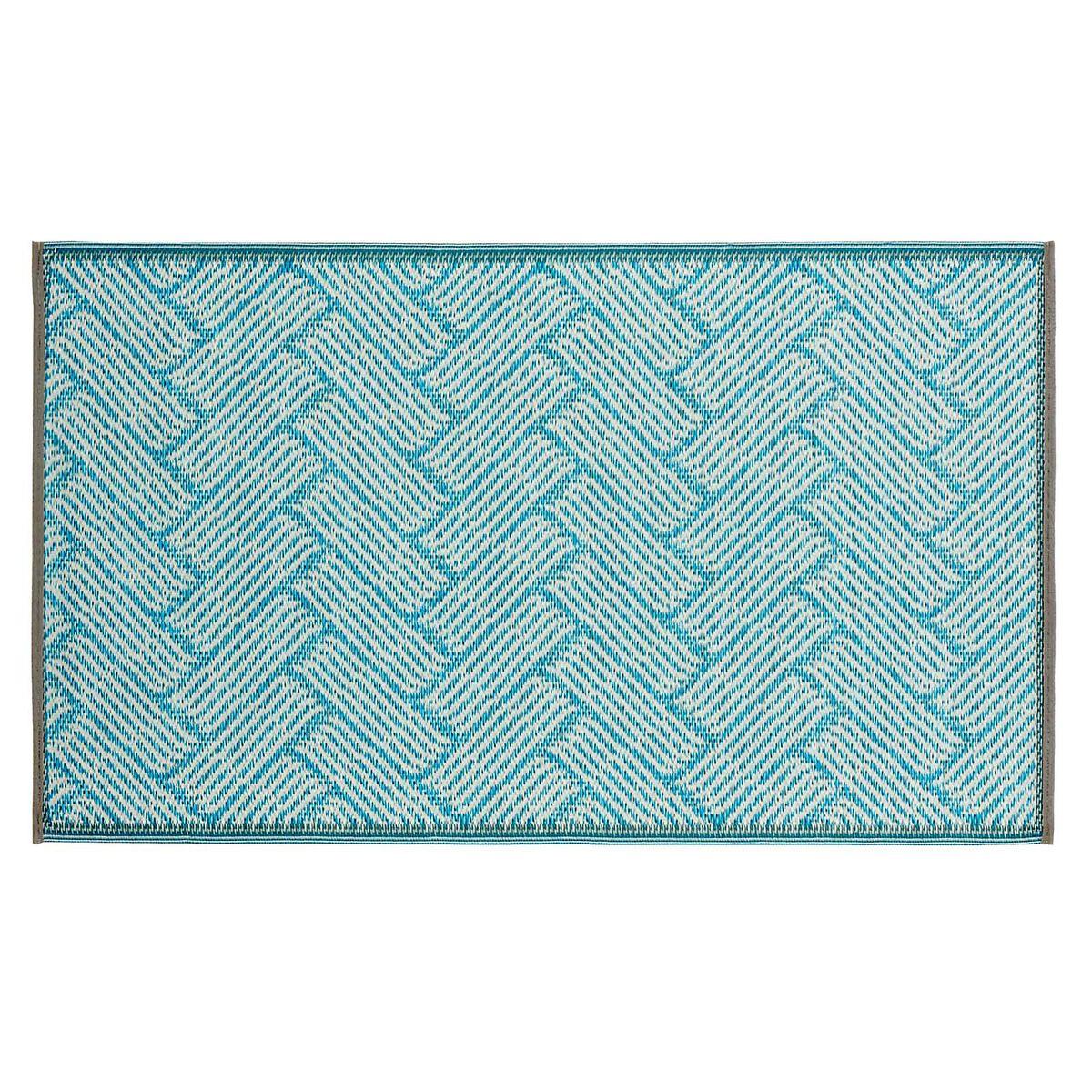 outdoor teppich wave ca l 90cm x b 150cm blau depot de. Black Bedroom Furniture Sets. Home Design Ideas