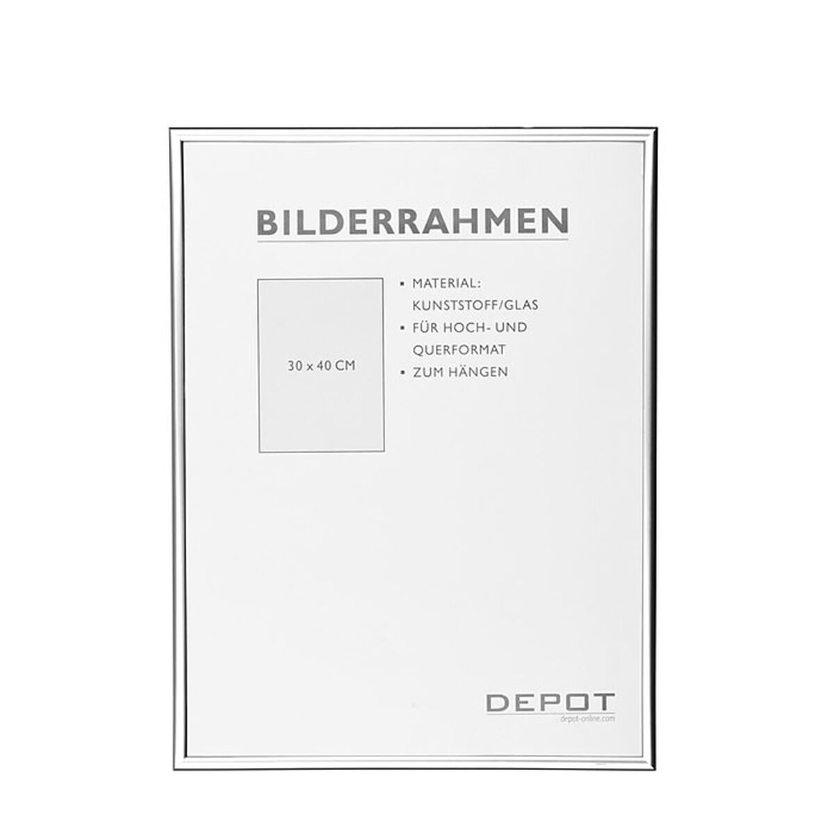 bilderrahmen silber ca 30x40 cm depot de. Black Bedroom Furniture Sets. Home Design Ideas