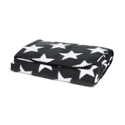decke sterne schwarz ca b 150 x l 200 cm 100 polyester depot de. Black Bedroom Furniture Sets. Home Design Ideas