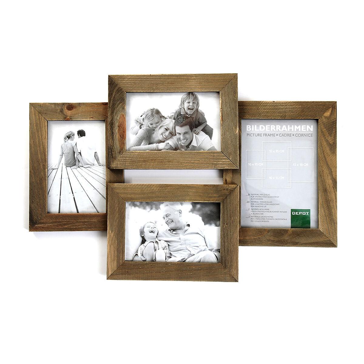 bilderrahmen f r 4 fotos 10x15cm 13x18cm depot de. Black Bedroom Furniture Sets. Home Design Ideas