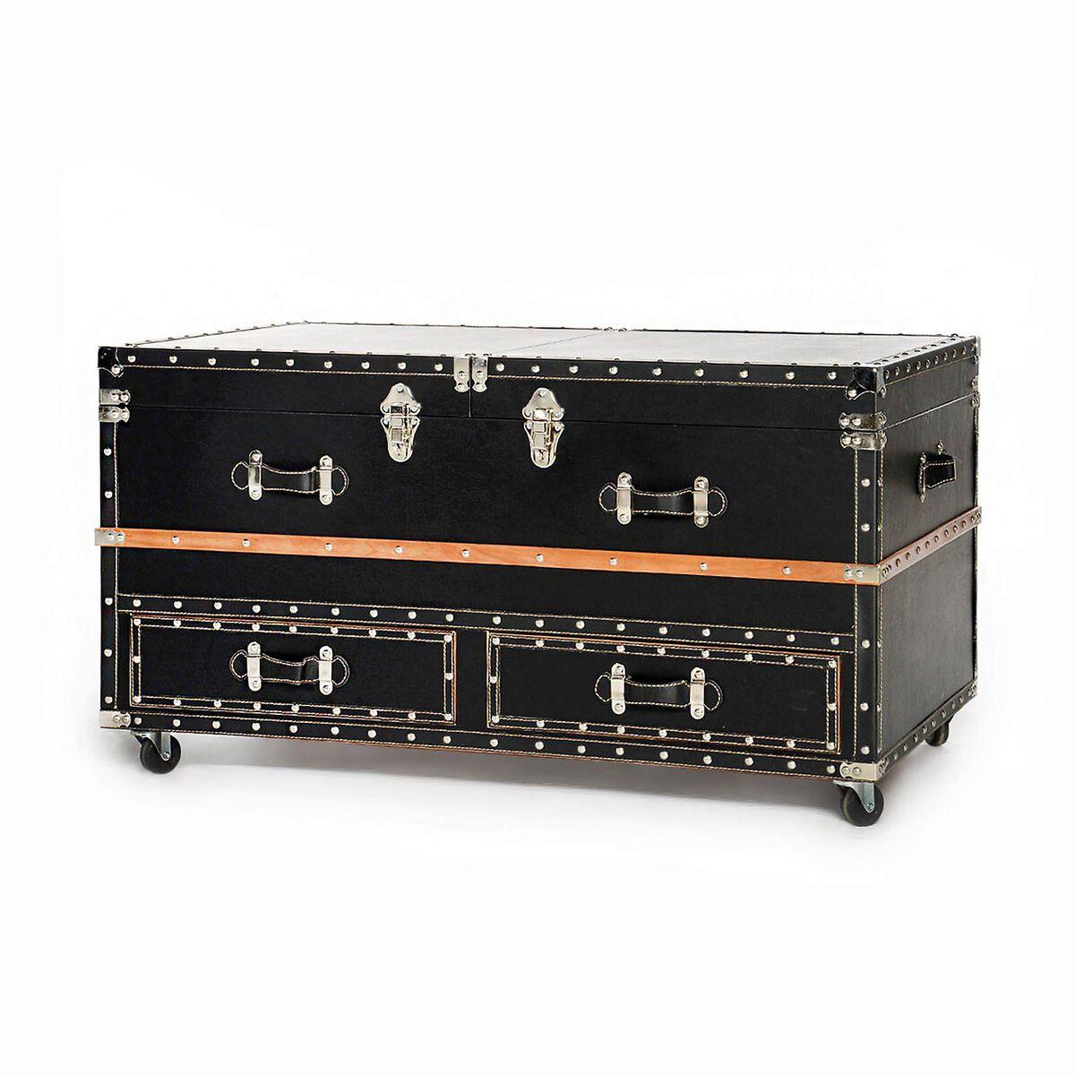 Couchtisch koffer tannenholz schwarz ca l 100 x b 60 x h for Couchtisch 100 x 50