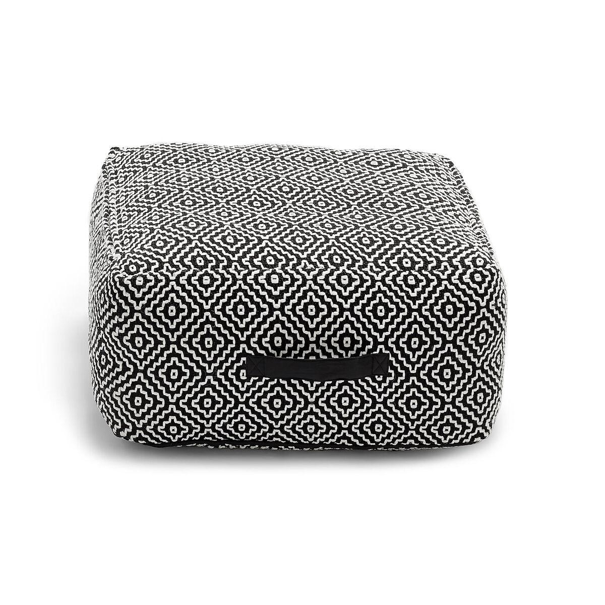 sitzpouf outdoor schwarz ca l 50 x b 50 x h 25 cm depot de. Black Bedroom Furniture Sets. Home Design Ideas