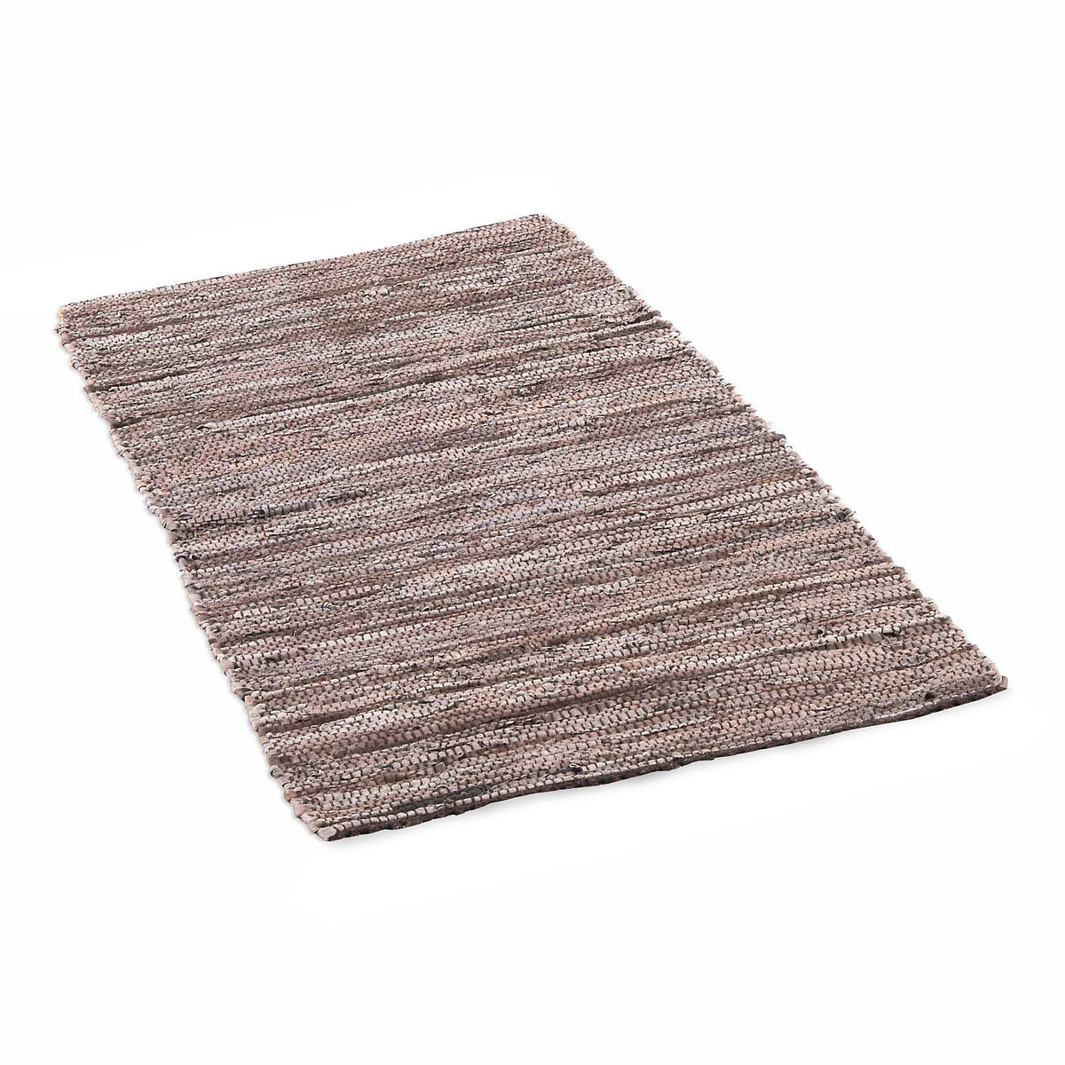teppich aus recyceltem leder ca b 60 x l 140cm braun depot de. Black Bedroom Furniture Sets. Home Design Ideas