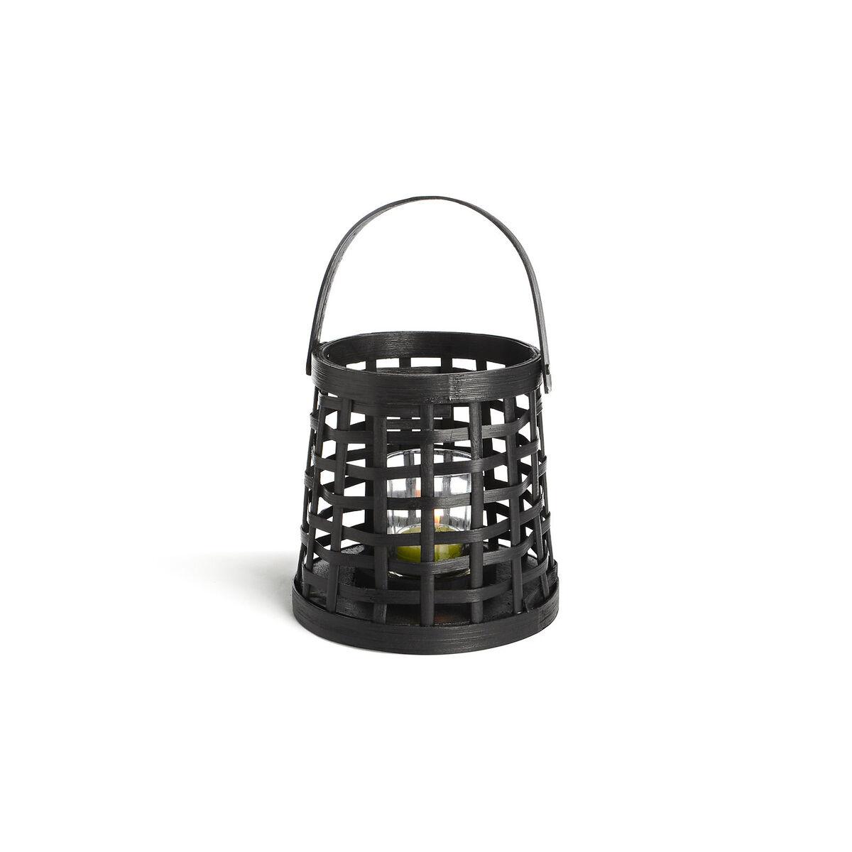 windlicht bambus schwarz ca d 12 x h 14 5 cm depot de. Black Bedroom Furniture Sets. Home Design Ideas