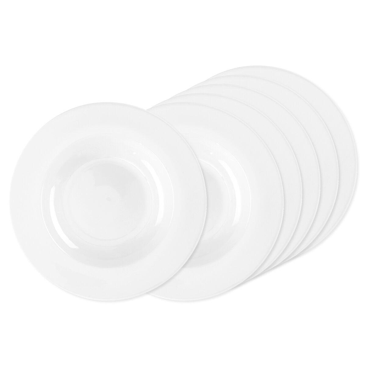 Teller tief La Vie Porzellan ca D22cm, weiß  Depot DE ~ Geschirr La Vie