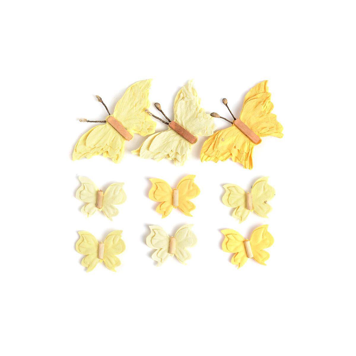 sticker schmetterling 3d 9er set gelb depot de. Black Bedroom Furniture Sets. Home Design Ideas