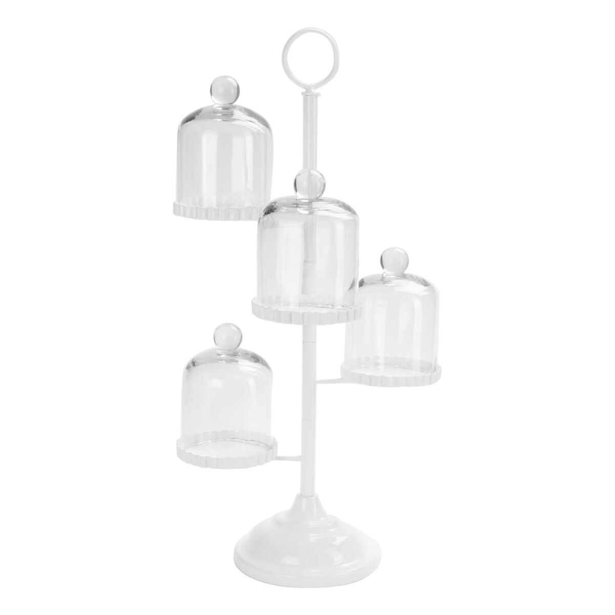 Paravent Metall Teelichter : Etagere mit Glasglocken  Depot DE[R