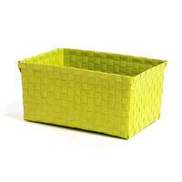 Korb geflochten Kunststoff hellgrün ca L:24 x B:18 x H:12,5 cm