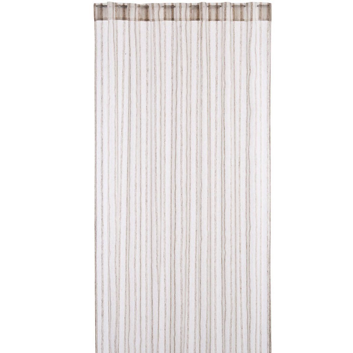 vorhang mit 8 verdeckten schlaufen polyester leinen natur. Black Bedroom Furniture Sets. Home Design Ideas