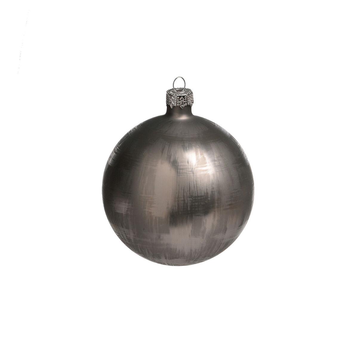 weihnachtskugeln metallic glas grau ca d 8 cm depot de
