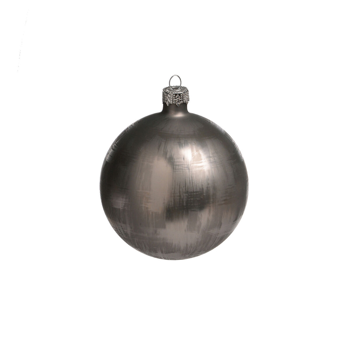 weihnachtskugeln metallic glas grau ca d 8 cm depot de. Black Bedroom Furniture Sets. Home Design Ideas