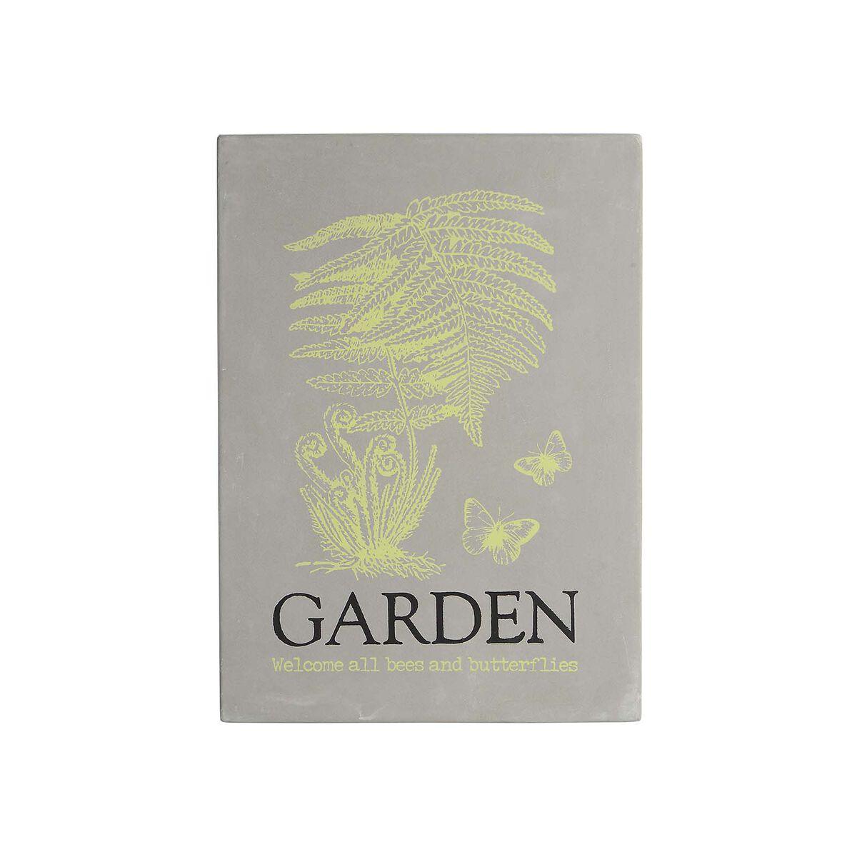 wanddeko garden grau ca b 21 x l 30 cm depot de. Black Bedroom Furniture Sets. Home Design Ideas