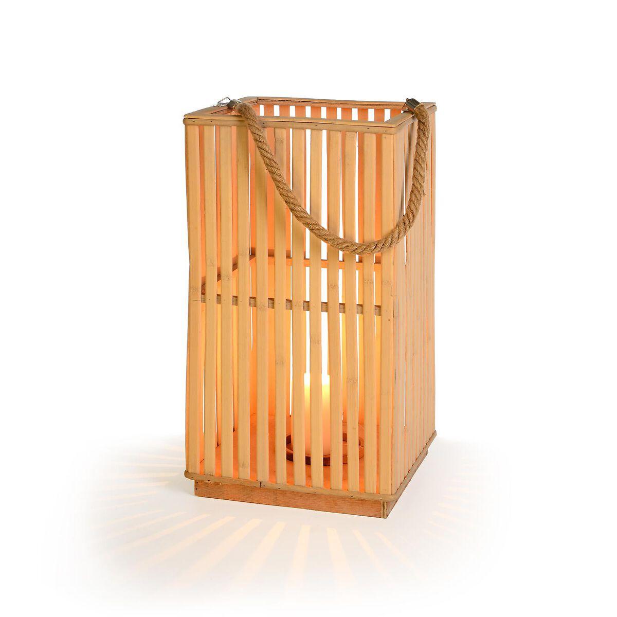 Laterne bambus natur ca l 25 x b 25 x h 48 cm depot de Balkon laterne