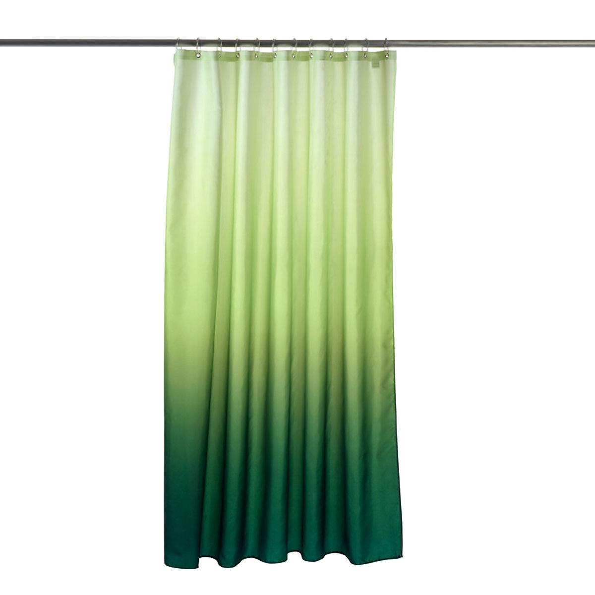 duschvorhang farbverlauf ca b 180 x l 200 cm gr n depot de. Black Bedroom Furniture Sets. Home Design Ideas