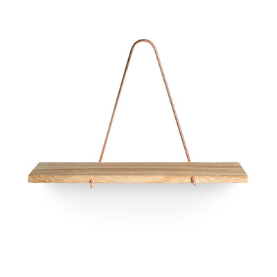 regal paulownia holz kupfer ca l 30 x b 11 xh 20 cm depot de. Black Bedroom Furniture Sets. Home Design Ideas