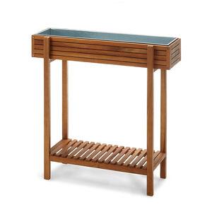 sichtschutz bank akazienholz 100 fsc zertifiziert natur ca l 80 x b 44 x h 170 cm depot de. Black Bedroom Furniture Sets. Home Design Ideas