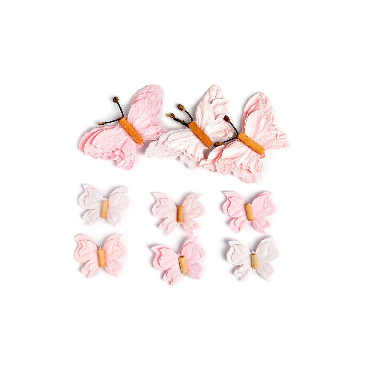 sticker schmetterling 3d 9er set rosa depot de. Black Bedroom Furniture Sets. Home Design Ideas