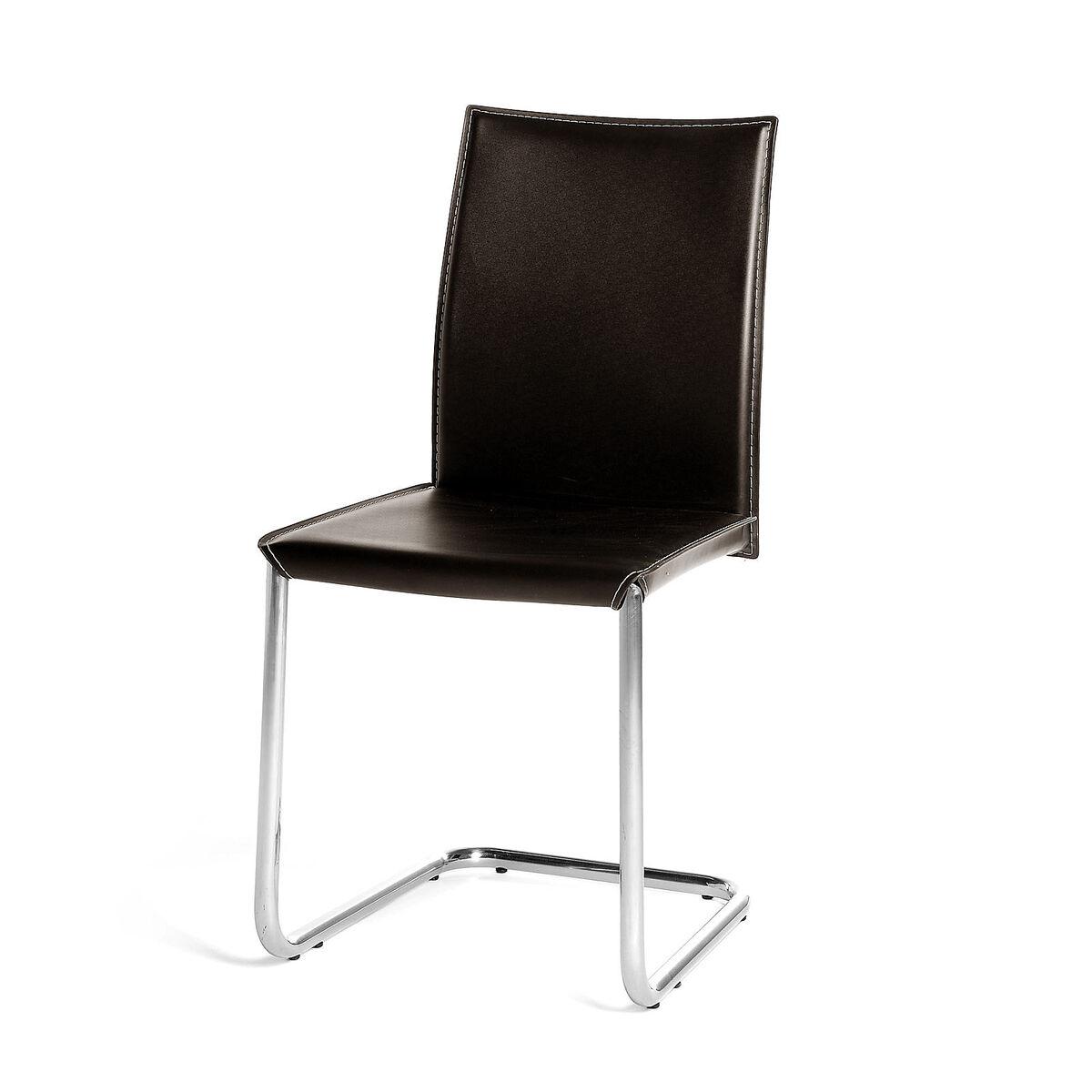 stuhl freischwinger lederoptik braun depot de. Black Bedroom Furniture Sets. Home Design Ideas