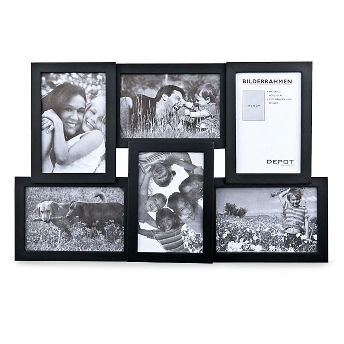 bilderrahmen collage holz schwarz ca l 45 x b 29 x h 3 cm. Black Bedroom Furniture Sets. Home Design Ideas