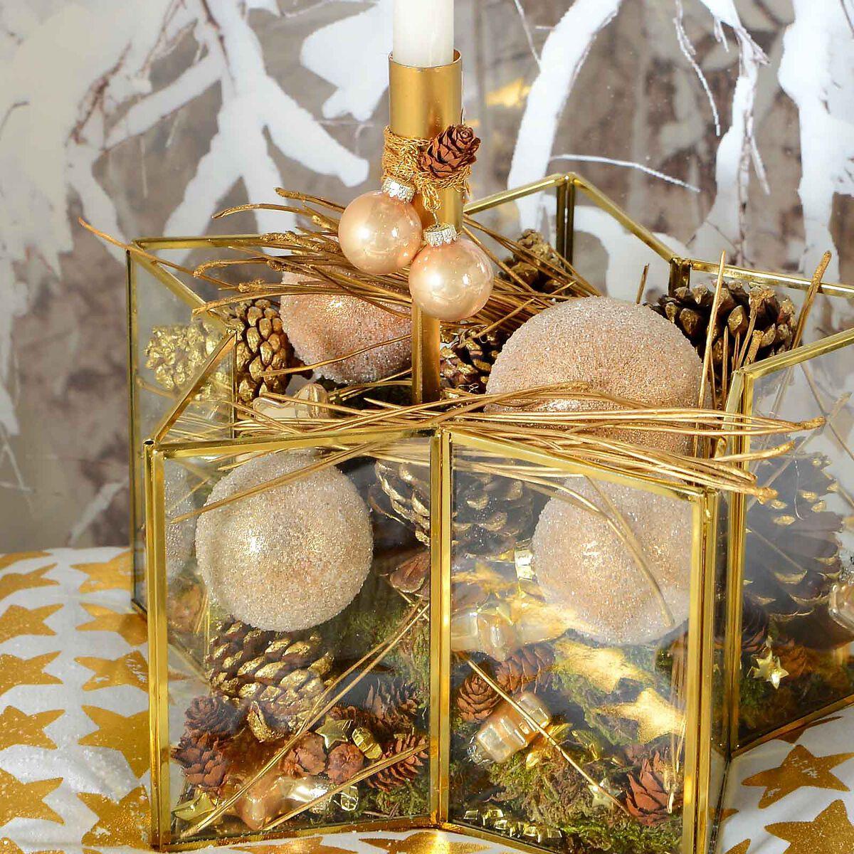 dekotablett stern glas gold ca d 29 x h 15 cm depot de. Black Bedroom Furniture Sets. Home Design Ideas