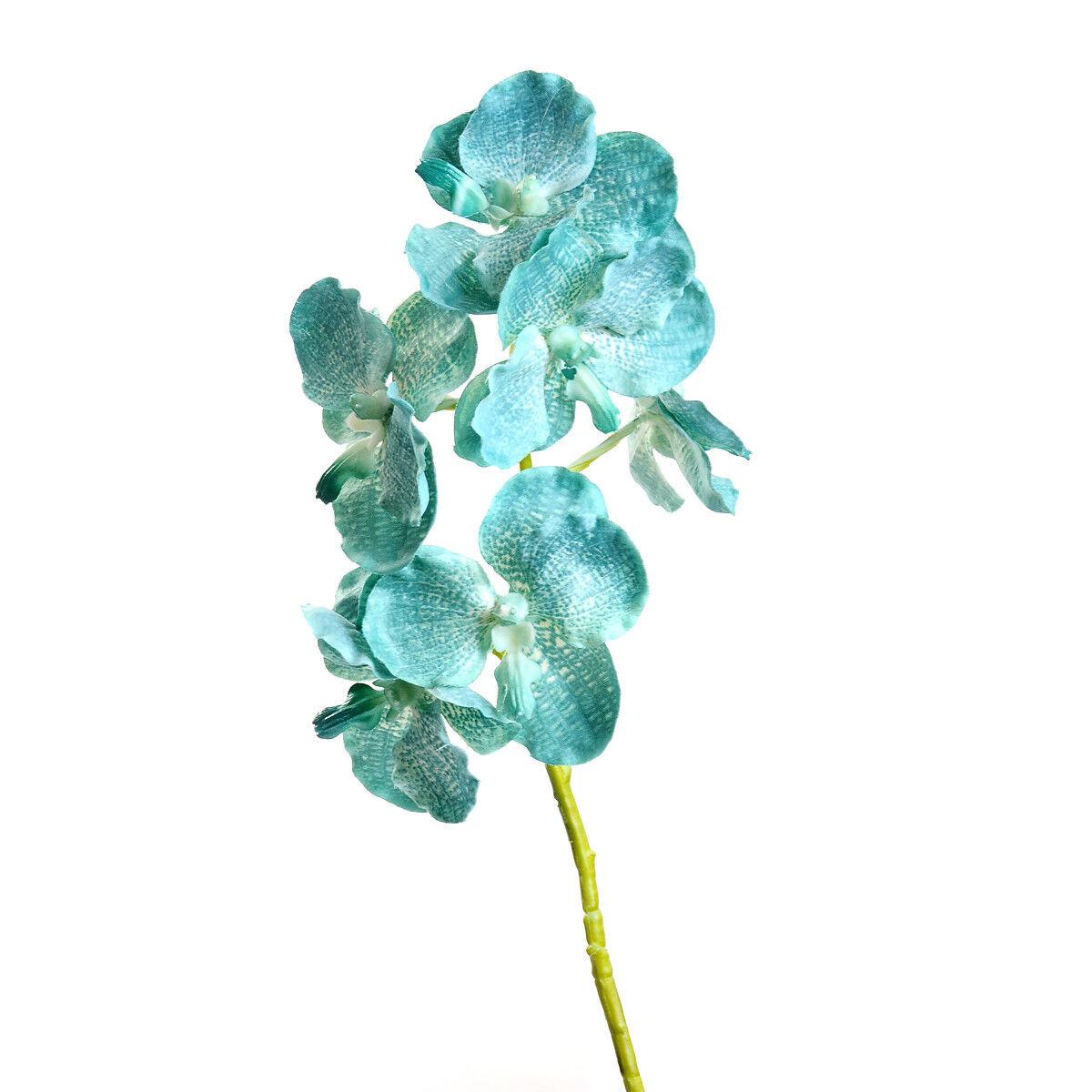 Deko Kamin deko kaminkonsole : Orchidee ca. 30cm, tu00fcrkis - Depot DE