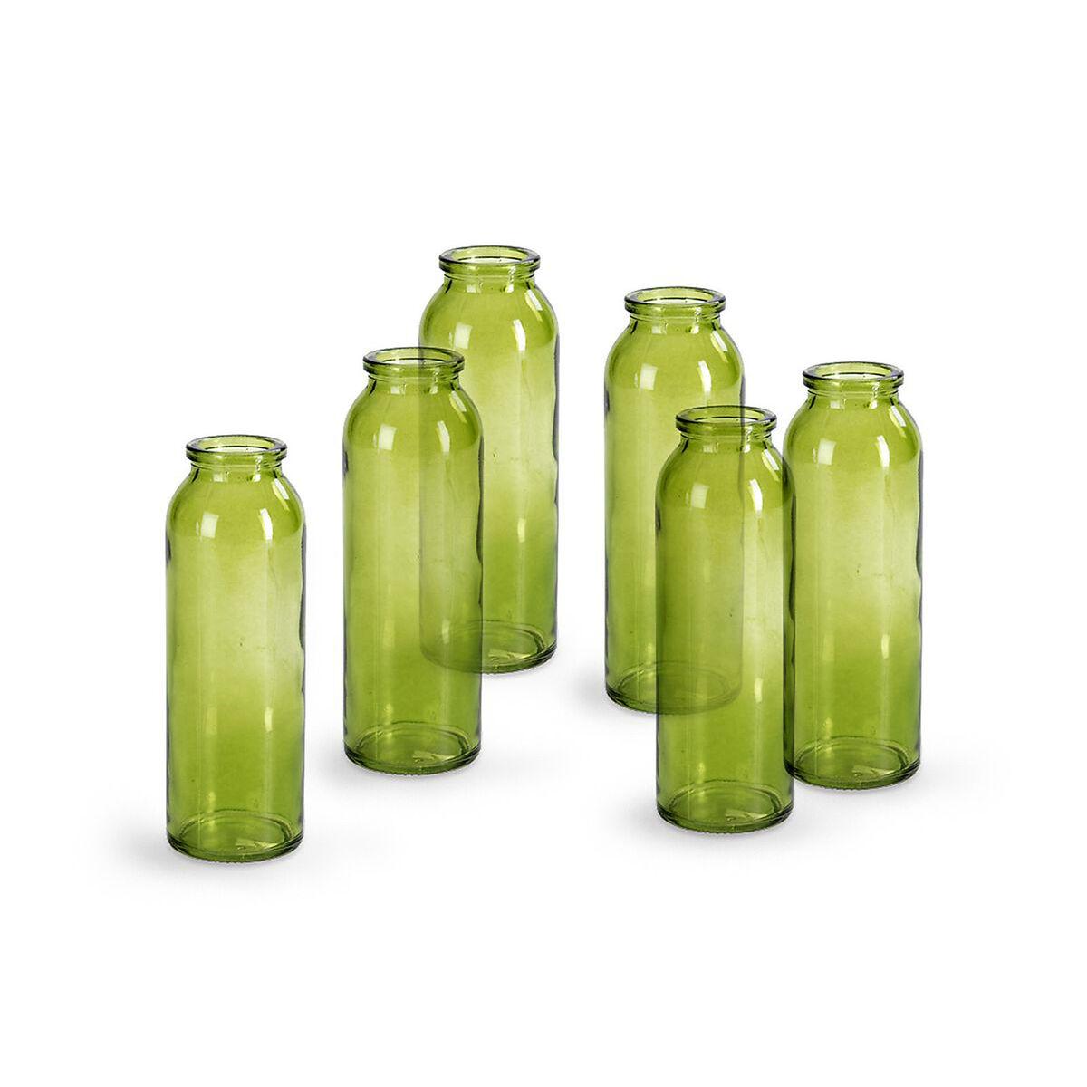 vase 6 st ck glas gr n ca h 15 cm depot de. Black Bedroom Furniture Sets. Home Design Ideas