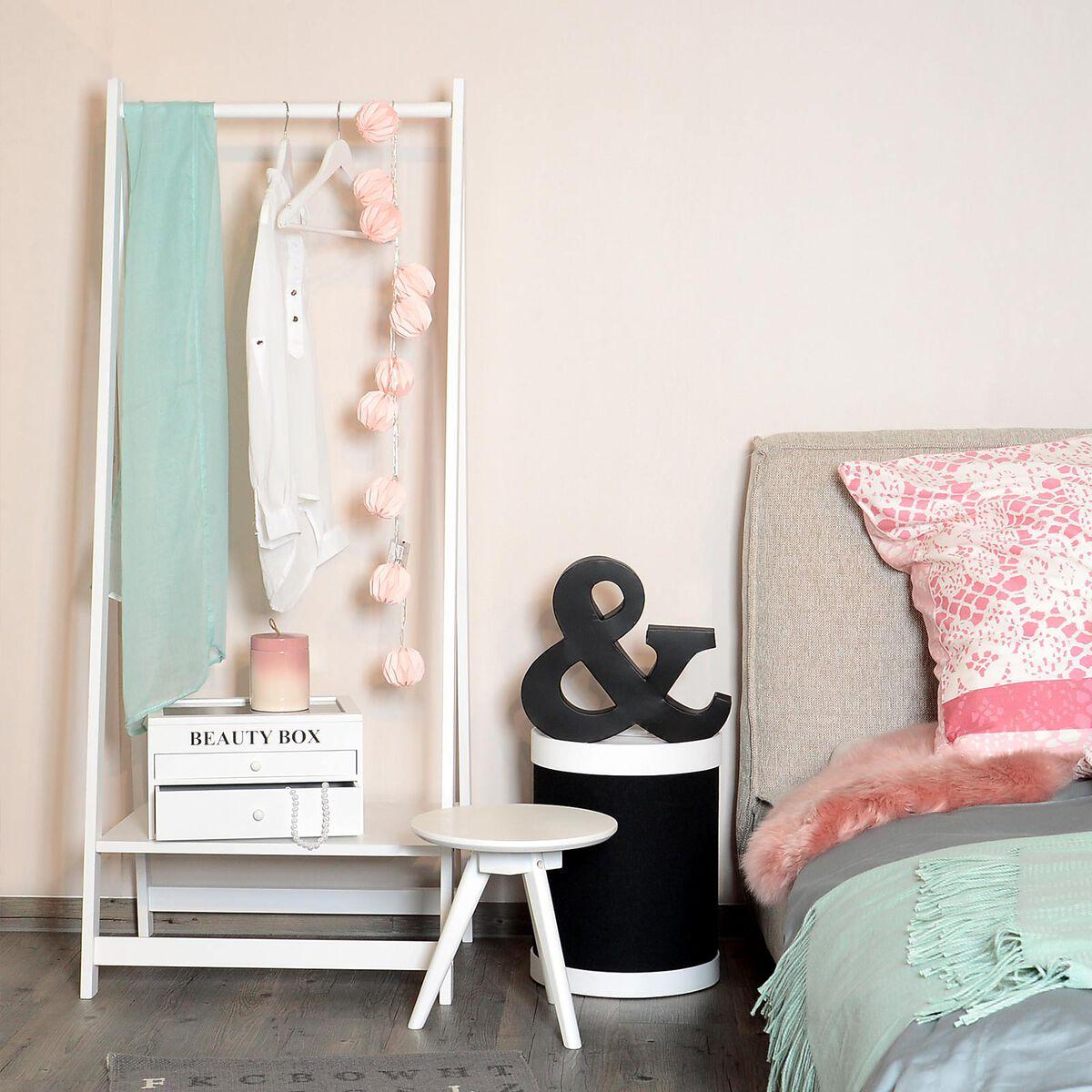 kleiderst nder kiefernholz ca h 150cm wei depot de. Black Bedroom Furniture Sets. Home Design Ideas