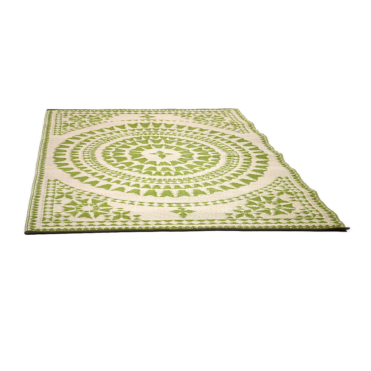 Teppich Outdoor FLORAL Kunststoff hellgrün ca B150 x L