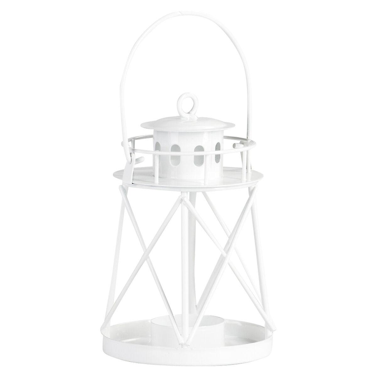 laterne leuchtturm metall wei ca d 9 5 x h 15 cm depot de. Black Bedroom Furniture Sets. Home Design Ideas