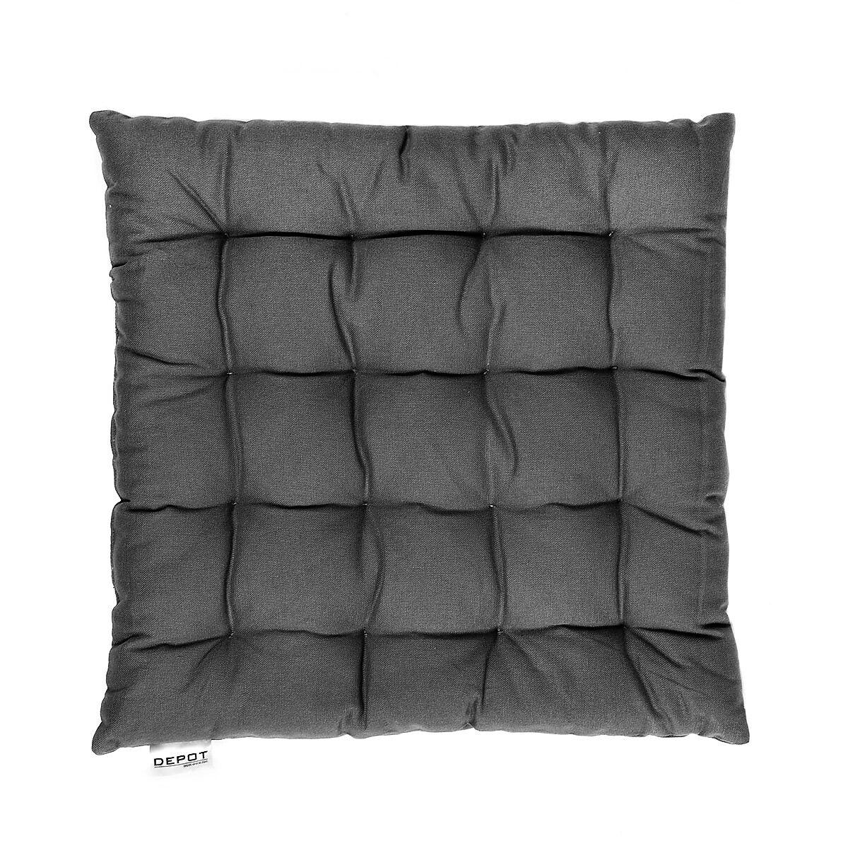 sitzkissen grau ca b 40 x l 40 cm depot de. Black Bedroom Furniture Sets. Home Design Ideas