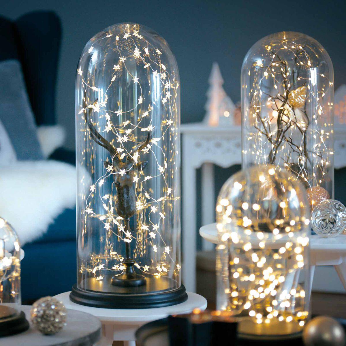 lichterkette strang mini kunststoff 20 led indoor klar ca l 1 0 m depot de. Black Bedroom Furniture Sets. Home Design Ideas