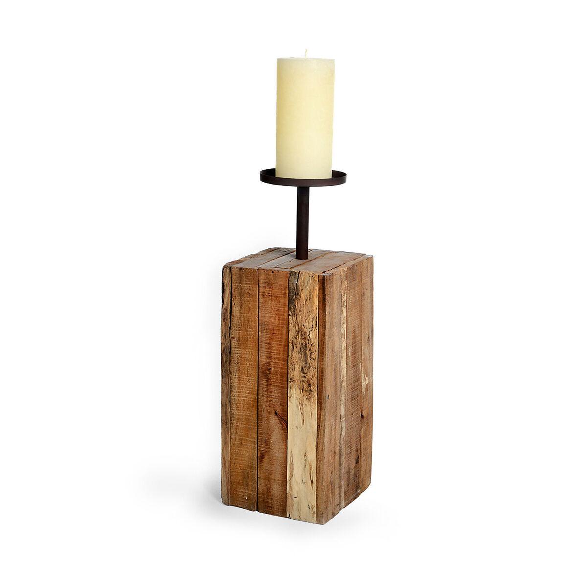 kerzenhalter ca l 25 x b 25 x h 60cm natur depot de. Black Bedroom Furniture Sets. Home Design Ideas