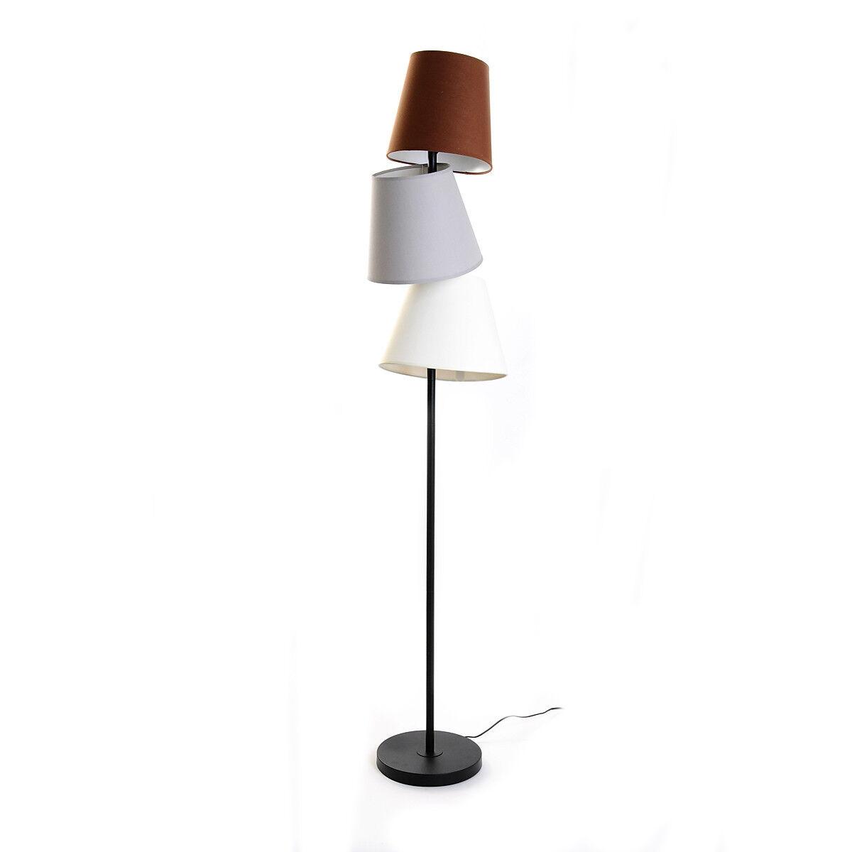 stehleuchte mit 3 schirmen metall beige ca d 26 x h 160 cm depot de. Black Bedroom Furniture Sets. Home Design Ideas