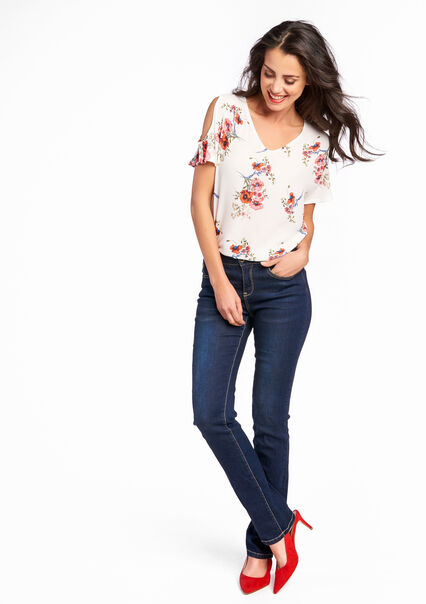 Jeans droit, taille régulière - DARK BLUE - 06003310_501