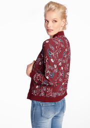 Jas in bomberstijl met bloemenprint - BERRY BORDEAUX - 09001048_1475